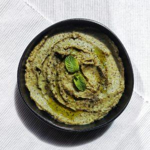 Recette : caviar d'aubergines à la menthe