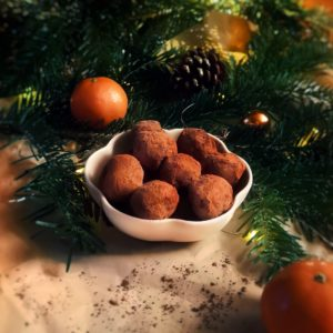 Recette : truffes au chocolat vegan & sans gluten